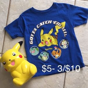Pokémon m(5-6) kids tee🖤